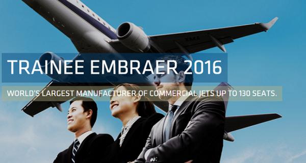 Programa de trainee da Embraer 2017