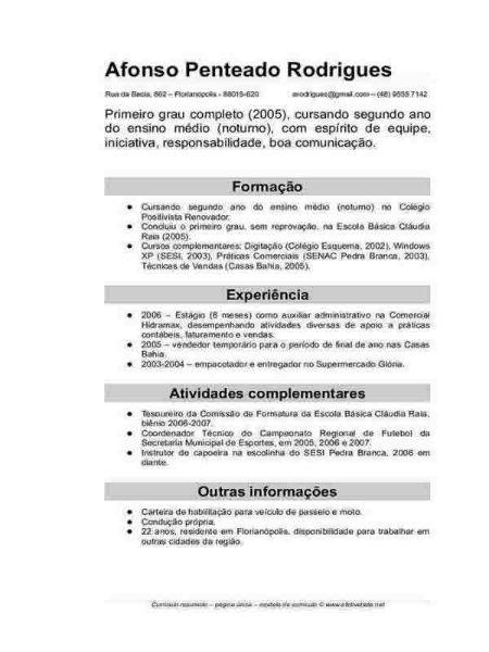 Currículo Prontos Preencher E Imprimir Modelos Para Imprimir
